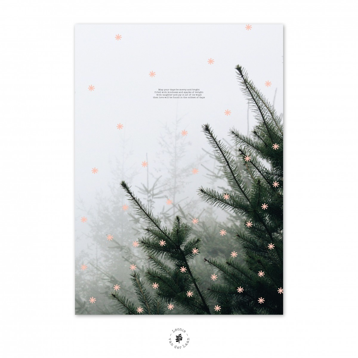 winter poster as christmas decoration, designed by Leonie van der Laan